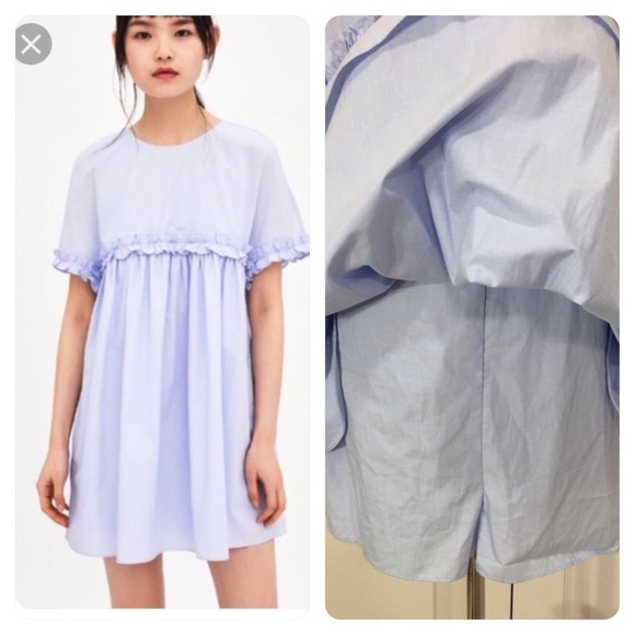 6c37fc40 Zara Baby Blue Poplin Jumpsuit Playsuit Dress. M_5c49d341819e906f31700227